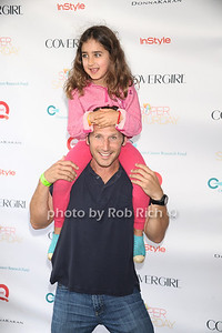 Actor Mark Feurersteinand daughter Lila attend Super Saturday 15 to benefit the  Ovaian Cancer Research Fund at Nova's Ark in Water Mill. (July 28, 2012) Rob Rich/SocietyAllure.com