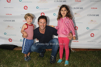 Actor Mark Feuerstein and children attend Super Saturday 15 to benefit the  Ovaian Cancer Research Fund at Nova's Ark in Water Mill. (July 28, 2012) Rob Rich/SocietyAllure.com
