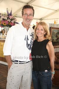 Chris Robbins and Barbara Frerichs attend the 37th.Annual Hampton Classic Horseshow in Bridgehampton. (August 30, 2012) photo credit: Rob Rich/SocietyAllure.com