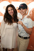 Mauri Pioppo gifts Georgina Bloomberg her Hampton Classic Horse pendant, with proceeds benefitting the ASPCA at  the 37th.Annual Hampton Classic Horseshow in Bridgehampton. (August 30, 2012)<br /> photo credit: Rob Rich/SocietyAllure.com