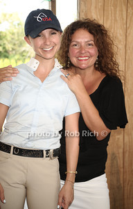 Georgina Bloomberg and Aida Turturro attend the 37th.Annual Hampton Classic Horseshow in Bridgehampton. (August 30, 2012) photo credit: Rob Rich/SocietyAllure.com