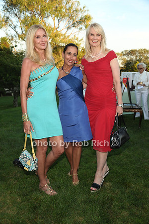 Dara Sowell, Sondra Sanchez, and Sara Herbert Galloway attend the 3rd Annual Unconditional Love benefit for the Southampton Animal Shelter Foundation at the private residence of Sandra McConnell in Southampton (July 21, 2012) Rob Rich/SocietyAllure.com