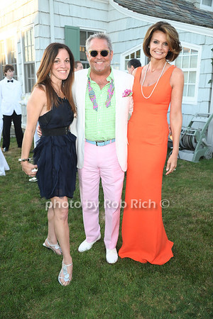 Lisa Hartman, Dan MacDonald, and  Lydia Touzet attend the 3rd Annual Unconditional Love benefit for the Southampton Animal Shelter Foundation at the private residence of Sandra McConnell in Southampton (July 21, 2012) Rob Rich/SocietyAllure.com