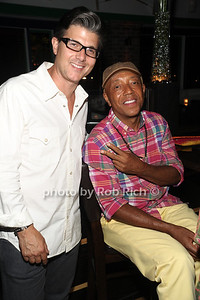 Frank Cilione, Russell Simmons attend the 4th of July party at the Player's Club in East Hampton (July 4, 2012). photo by Rob Rich/SocietyAllure.com