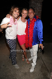 DJ Lee Kalt, Siobhan Lewin, and Ivan Wilzig attend the 4th of July party at the Player's Club in East Hampton (July 4, 2012). photo by Rob Rich/SocietyAllure.com