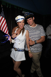 Mina Odsevk, Oren Alexander attend the 4th of July party at the Player's Club in East Hampton (July 4, 2012). photo by Rob Rich/SocietyAllure.com