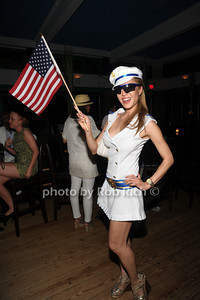 Mina Odsevk attend the 4th of July party at the Player's Club in East Hampton (July 4, 2012). photo by Rob Rich/SocietyAllure.com