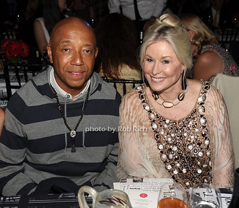 """6-2-2012:Russell Simmons and honoree Courtney Sale Ross attend the  """"9th.Annual Live @Clubstarlight"""" at the Ross School in Easthampton on June 2, 2012. Rob Rich/SocietyAllure.com"""
