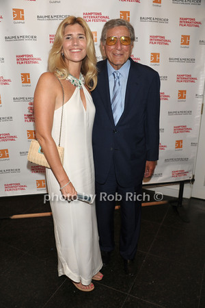 "Susan Benedetto and Tony Bennett attend The HIFF Summerdoc screening of ""The Zen of Bennett""  at Guild Hall iin East Hampton. (August 13, 2012)<br /> photo credit:Rob Rich/SocietyAllure.com"