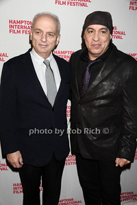 "David Chase and Stevie van Zandt HIFF movie premiere of ""Not Fade Away"" Arrivals East Hampton, USA 10-7-12"