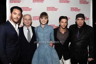 "Jack Huston, David Chase, Bella Heathcote, John Magaro, and Steven van Zandt HIFF movie premiere of ""Not Fade Away"" Arrivals East Hampton, USA 10-7-12"