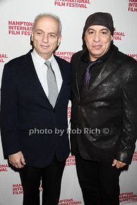 "David Chase and Steven van Zandt attend the HIFF screening of ""Not Fade Away"" at Guild Hall in East Hampton. October 7, 2012 photo credit: Rob Rich/SocietyAllure.com"