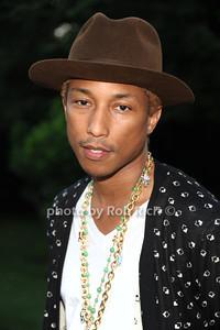 Pharrell Williams attend the  Hamptons fundraiser for Soledad O'Brien & Brad Raymond Foundation at a private residence in Bridgehampton (July 27, 2012). Rob Rich/SocietyAllure.com
