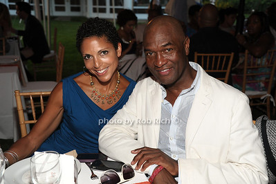 Stacy Scarpone, Carl Nelson attend the  Hamptons fundraiser for Soledad O'Brien & Brad Raymond Foundation at a private residence in Bridgehampton (July 27, 2012). Rob Rich/SocietyAllure.com