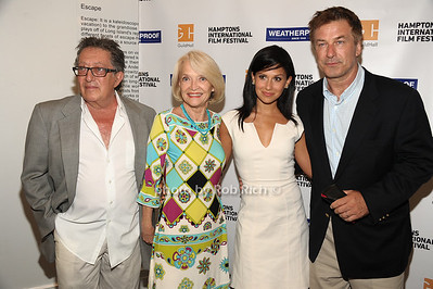 Freddie Stollmack, Ruth Applebaum, Hilaria Thomas Baldwin, Alec Baldwin attend the Movie Sceening of Searching for Sugar Man at Guild Hall in East Hamptonn. (July 6,2012) photo by Rob Rich/SocietyAllure.com