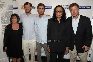 Karen Arikian, David Nugent, Malik Bendjelloul, Rodriguez, Alec Baldwin attend the Movie Sceening of Searching for Sugar Man at Guild Hall in East Hamptonn. (July 6,2012) photo by Rob Rich/SocietyAllure.com