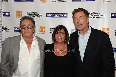 Freddie Stollmack, Karen Arikian,  and  Alec Baldwin attend the Movie Sceening of Searching for Sugar Man at Guild Hall in East Hamptonn. (July 6,2012) photo by Rob Rich/SocietyAllure.com