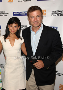 Hilaria Thomas Baldwin, Alec Baldwin attend the Movie Sceening of Searching for Sugar Man at Guild Hall in East Hamptonn. (July 6,2012) photo by Rob Rich/SocietyAllure.com