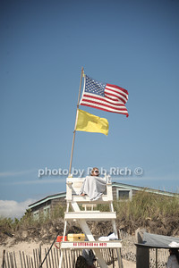 Lifeguard at the beach in  Ditch Plains in Montauk on September 16, 2012. photo credit: Rob Ricch\SocietyAllure.com