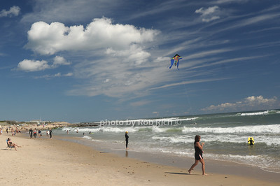 Kite flying  at the beach in  Ditch Plains in Montauk on September 16, 2012. photo credit: Rob Ricch\SocietyAllure.com