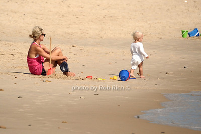 Mother and daugher enjoy the day  at the beach in  Ditch Plains in Montauk on September 16, 2012. photo credit: Rob Ricch\SocietyAllure.com
