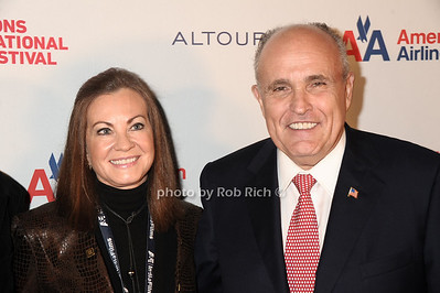 "Judy Guiliani and Rudy Guiliani attend the opening night screening of"" Love, Marilyn""  at the HIFF at Guild Hall in East Hampton (October 4,2012) photo credit: photo by Rob Rich/SocietyAllure.com"