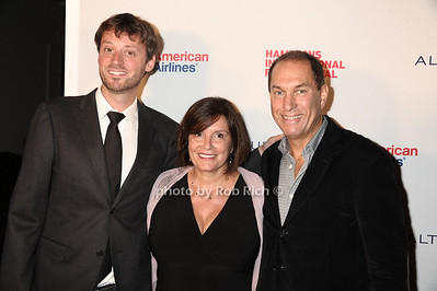 "David Nugent, Karen Arikian, and Stuart Match Suna attend the opening night screening of"" Love, Marilyn""  at the HIFF at Guild Hall in East Hampton (October 4,2012) photo credit: photo by Rob Rich/SocietyAllure.com"