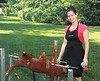 Top Cheftestant Nikki Cascone prepares a roasted suckling pig on the Fourth of July in Southampton. (July 4, 2012)<br /> .photo by Rob Rich/SocietyAllure.com