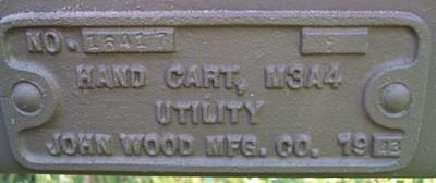 JOHN WOOD MFG. M3A4 #16417 1943