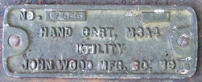 JOHN WOOD MFG. M3A4  #17826 1943