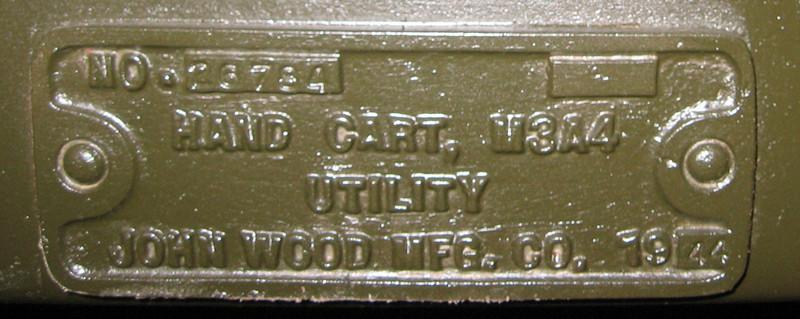 JOHN WOOD MFG. M3A4  #26784 1943