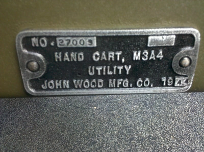 JOHN WOOD MFG. M3A4  #27009 1944