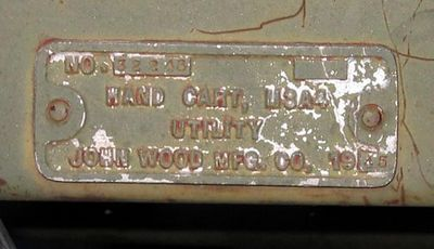 JOHN WOOD MFG. M3A4  #32243 1943