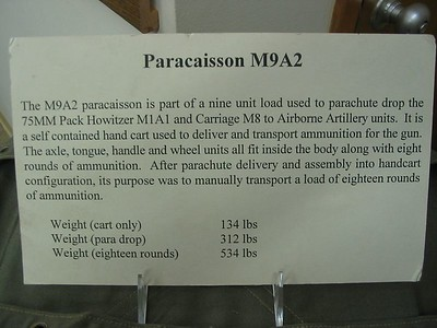 M18 and M9A2 PARACAISSON