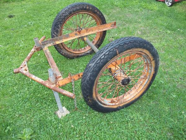 Craigslist<br /> <br /> WWII motorcycle Cart - $400 (olean, ny 14760)<br /> <br /> original cart for Ammo very rare peice. <br /> call mike 585-365-5433