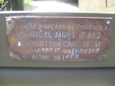 CHEMICAL MORTAR & AMMO CART M1A1 #1452