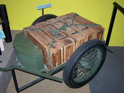 M1A1 CHEMICAL MORTAR & AMMO CART (9)