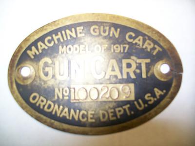 MODEL OF 1917 MACHINE GUN CART #100209