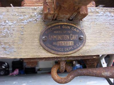 MODEL OF 1917 MACHINE GUN CART #107619