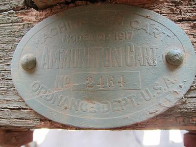 MODEL OF 1917 AMMUNITION CART # 2464