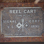 REEL CART<br /> TYPE RL-16A<br /> SIGNAL CORPS<br /> U.S. ARMY<br /> ORDER NO. 3866-CHI-42<br /> MARCH 27, 1942