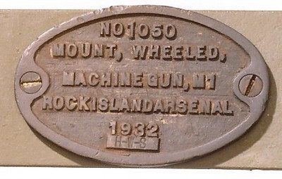 M1 WHEELED MACHINE GUN MOUNT #1050 1932