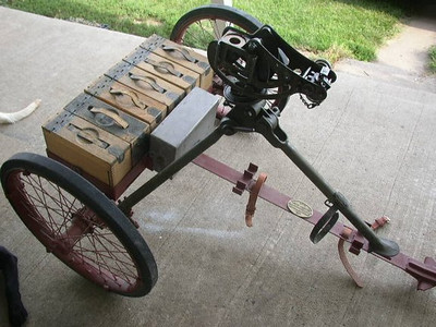 M1 WHEELED MACHINE GUN MOUNT #713 1932