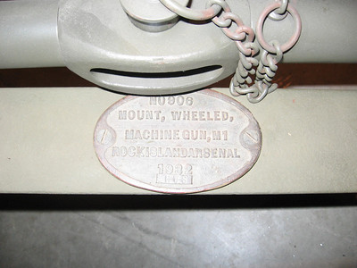 M1 WHEELED MACHINE GUN MOUNT #906 1932