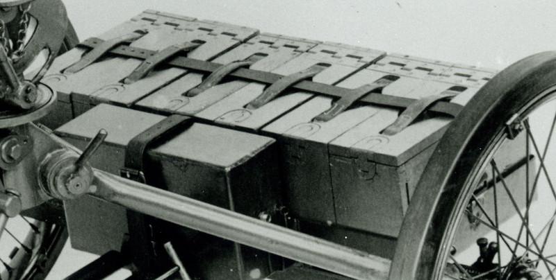 ROCK ISLAND ARSENAL<br /> 638-39360 APRIL 11, 1933.<br /> MOUNT,  WHEELED  MACHINE GUN<br />  M1.