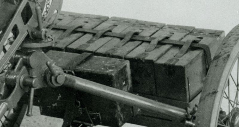 ROCK ISLAND ARSENAL<br /> 638-38-357 OCT, 7, 1930<br /> MOUNT,  WHEELED, MACHINE<br /> GUN, M1.