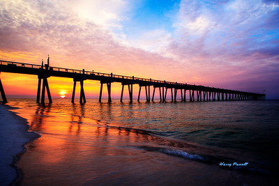 sunrise at the Pensacola Beach pier