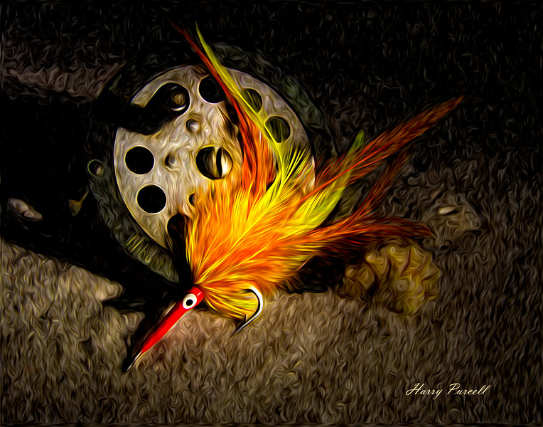 Denny's lure, a light painting