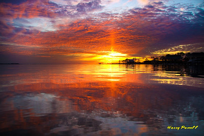 sunset Santa Rosa Sound, Gulf Breeze, Florida