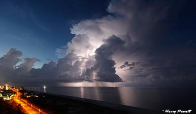 lightening at Pensacola Beach, Florida